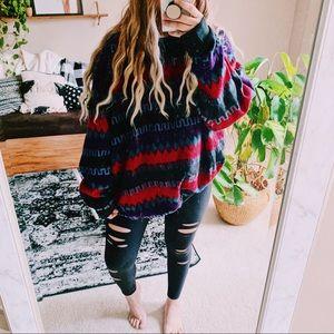 Vintage fleece boho Aztec oversized sweatshirt p4